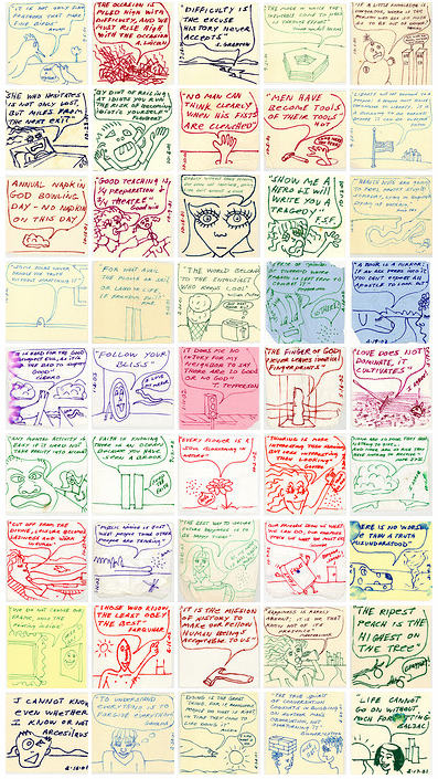 Napkin Quotes: Dad Puts Drawings & Quotes On Daughter's School Napkins""